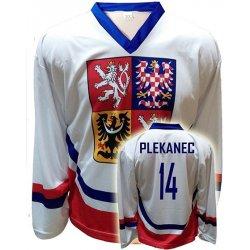 74238268334 Trops-Sport Hokejový dres ČR Tomáš Plekanec bílý Velikost  140 ...