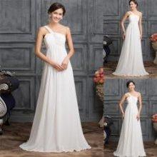 Bílé svatební šaty s dlouhou sukní do A