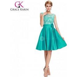 Grace Karin koktejlové šaty s krajkou CL6116-1 zelená alternativy ... ec083624c5