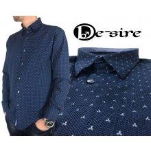 Ego-Man Modrá košile s jemným vzorem Modrá d1b60e0930