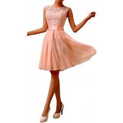 a88247d7c40 Plesové šaty mini s krajkou 33771-3 lososově růžová od 674 Kč ...