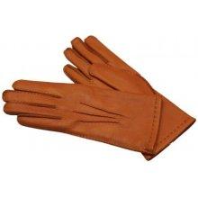 Vycházkové rukavice z americkeho jelena rezavé dámské - ručně šité