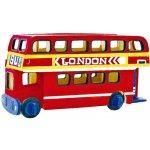 Robotime dřevěná skládačka Patrový autobus + barvy a štětec