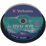 Verbatim DVD-RW 4,7GB, 4x, 10ks (43552)