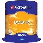 Verbatim DVD-R 4,7GB 16x, Advanced AZO, cakebox, 100ks (43549)