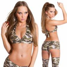 KouCla Sexy lesklý se zipem Army