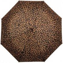 Dámský skládací deštník Gepard HNĚDÁ