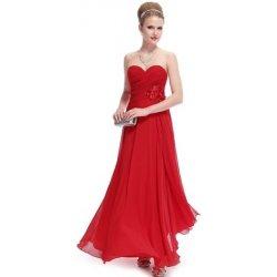 dlouhé šaty na ples večerní šaty do společnosti na svatbu korzetové červené 6c895acc96
