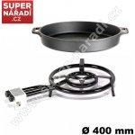 Set Paella LPG vařič 40cm 11,7kW, 60 cm litinová pánev Gastro