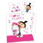 Herding bavlna povlečení Mimoni Agnes I love Fluffy 140x200 70x90