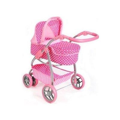 Multifunkční kočárek pro panenky PlayTo Jasmínka - Světle Růžový