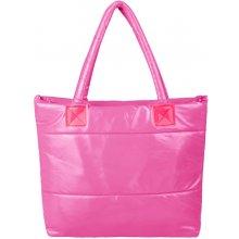 kabelka lesklá růžová