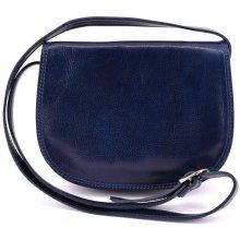Arteddy dámská kožená kabelka crossbody lovecká modrá e6646eb2405
