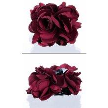 d87b9c13d31 Fashion Icon Skřipec do vlasů kytka textilní růže VS0023-39