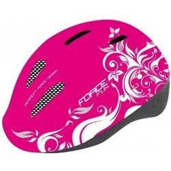 Přilba, helma, kokoska Force Fun Flowers pink/white 2015