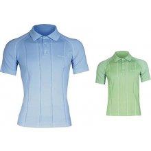 Brubeck PRESTIGE pánské thermo tričko s límečkem zelená