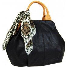 dámská kabelka s šátkem AAJ-20 černá