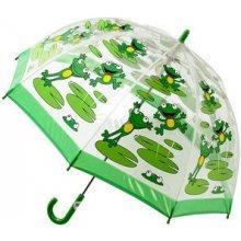 Blooming Brollies Dětský průhledný holový deštník Bugzz Kids Stuff Frog BUFG