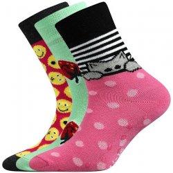 facf7345fcc Boma FILIP ABS Protiskluzové ponožky pro děti 3 páry v barevném mixu ...