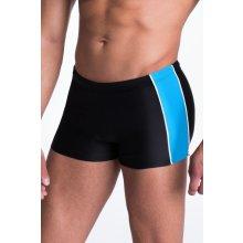 Primo Pánské plavky boxerky Hector černomodré černé