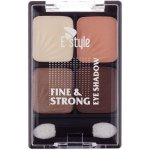 E style Fine & Strong Eye Shadow Quatro oční stíny 2 Sandy Dune 6 g