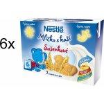 Nestlé mlíčko s kaší sušenkové 6x 2x200ml