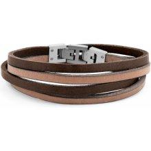 Lucleon náramek Tan & Steel Roy Double Wrap MP_bracelet223