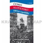 mapa Česko Slovensko 100 let republiky