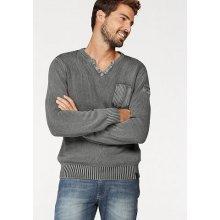 Rhode Island Pletený pulovr, světle šedá