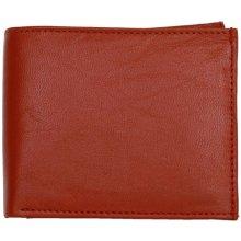 kožená peněženka vyrobená z měkké pravé kůže Červená
