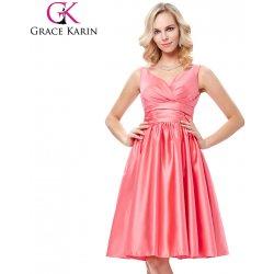 3350ef13e9f4 Grace Karin saténové společenské šaty GK000126-1 růžová alternativy ...