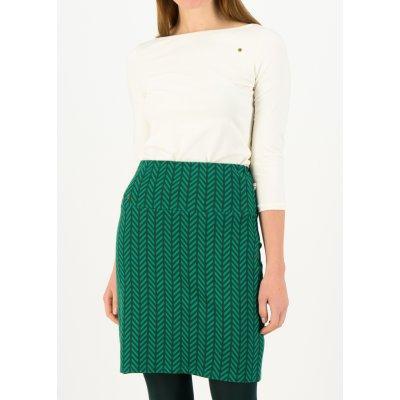 Blutsgeschwister podzimní bavlněná sukně Zig zag zelená