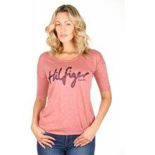 Tommy Hilfiger dámské starorůžové tričko