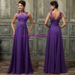 0b462099d765 Fialové lila dlouhé společenské plesové šaty s výšivkou luxusní č.L159