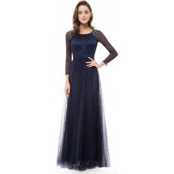 Ever-Pretty večerní šaty s dlouhým rukávem EP08553NB noční modř 29d03600cd