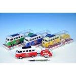 Autobus PEACE plast 14cm s karavanem plast 8cm