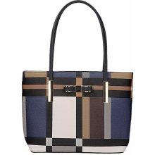 Gallantry kabelka s geometrickým vzorem modrá