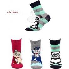 cf25dbf49b0 Pruhanka Abs dětské protiskluzové ponožky mix barev