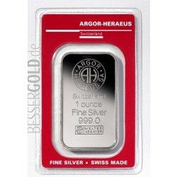 Heraeus Stříbrný slitek Argor 1 Oz