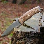 TBS Grizzly Bushcraft Survival Knife Natural Micarta Cordura coyote pouzdro
