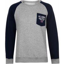 Lee Cooper Crew LDN Sweatshirt pánská Grey Marl Navy dadda8d028b