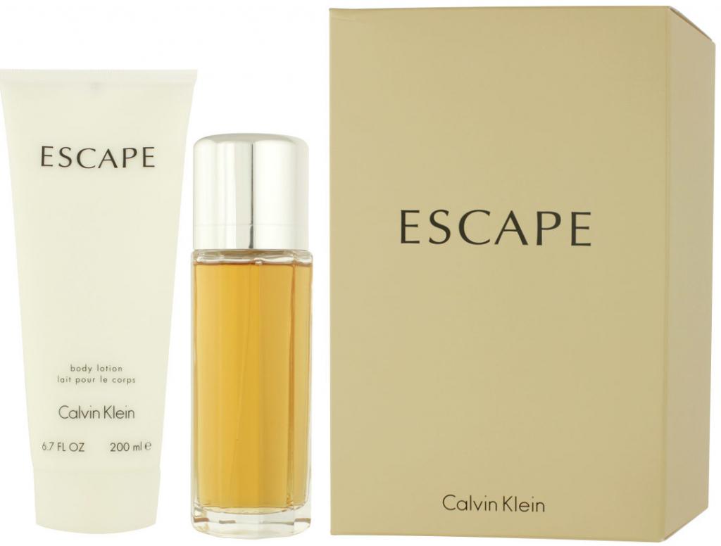 61244b875c Calvin Klein Escape woman EDP 100 ml + tělové mléko 200 ml dárková sada od  660 Kč - Heureka.cz