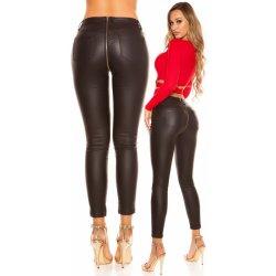 06951705b80f KouCla Dámské koženkové kalhoty push up se zipem - černá džíny ...