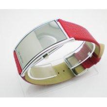 LED Elegantní zrcadlové červené
