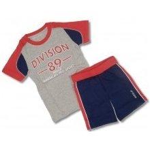 Dětská letní souprava kraťase a tričko šedé