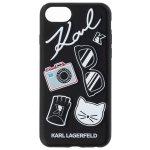 Pouzdro Karl Lagerfeld Pins Hard Case iPhone 7/8 černé