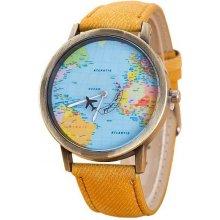 Altro s mapou světa žluté