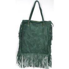 kabelka z pravé broušené kůže 82 Green