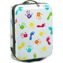 Snowball 65018 Malý dětský palubní kufr 32x18x48 cm , Bílá