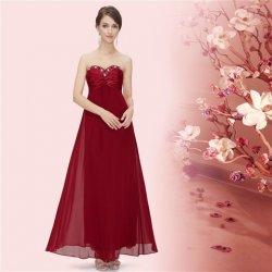 Vínově červené dlouhé společenské svatební šaty bez ramínek šifonové ... 5faf3d5f1a